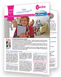 Revue bimestrielle résidences services seniors Les Résidentiels