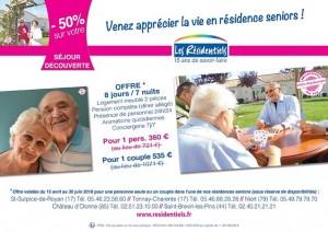 Tarif residence seniors sejour decouverte